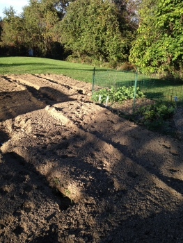 freshly plowed