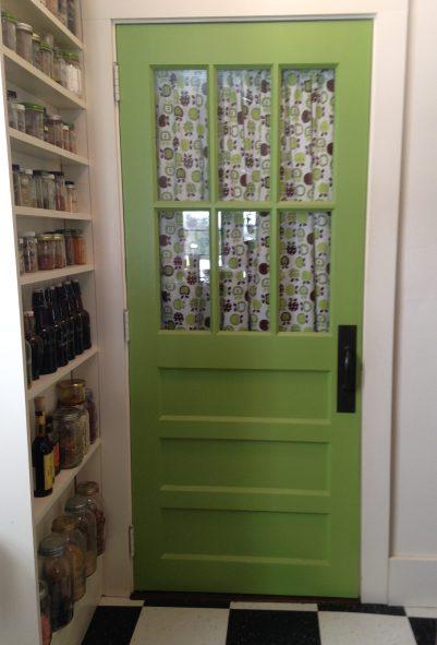 green door to the basement