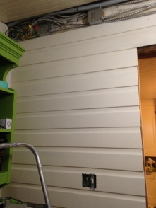 Here you can see the lovely fixed siding
